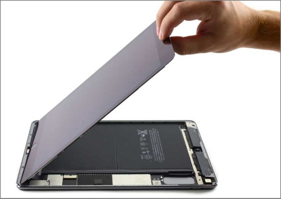 iPad air 2 screen replacement - Step 27 - Keep lifting the screen get together from the front camera