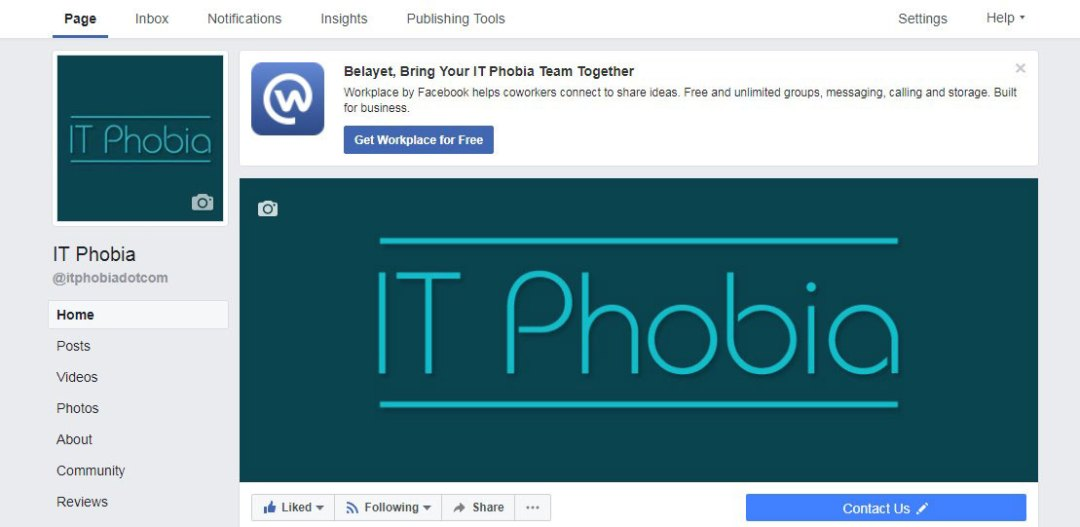 Changing business name on Facebook IT Phobia