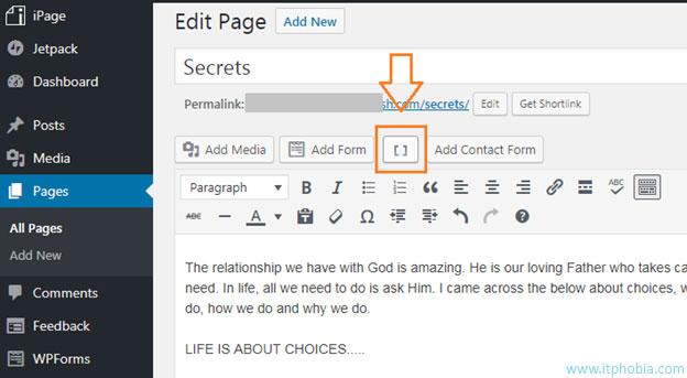 WordPress Column Creating plugin shortcode