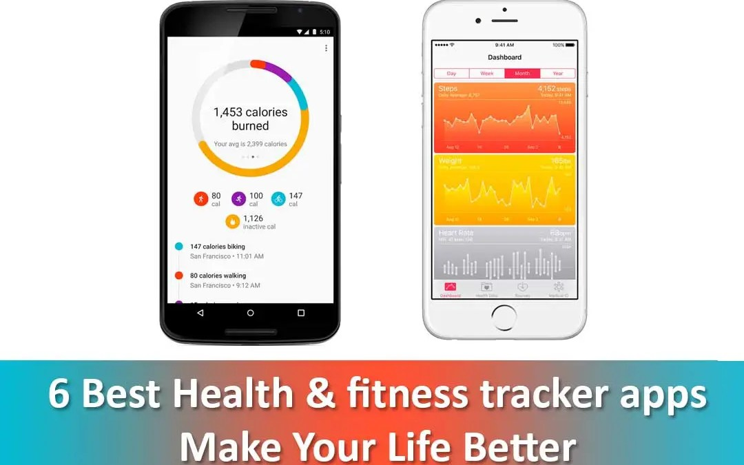 6 Best Health & fitness tracker app: Make Your Life Better