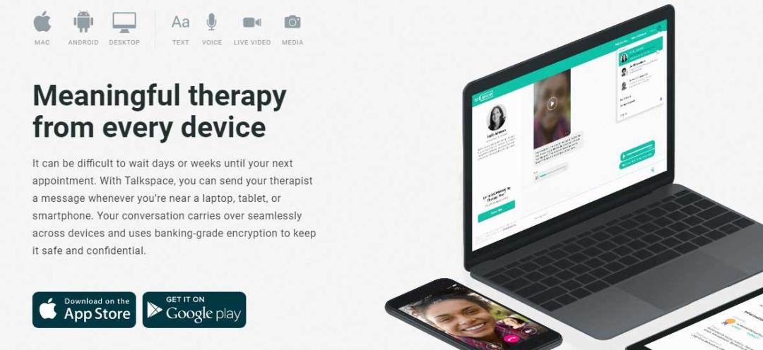 fitness tracker app talkspace