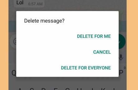 whatsapp vs facebook messenger recalling a message