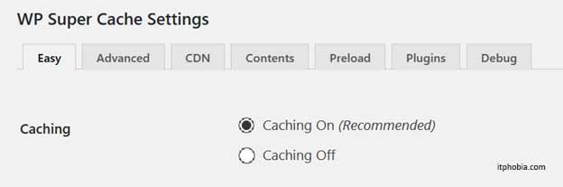 Speeding up eCommerce Shop wp super cache settings
