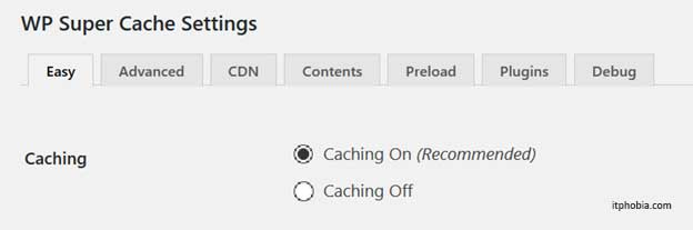 Speeding up eCommerce Shop wp super cache settings