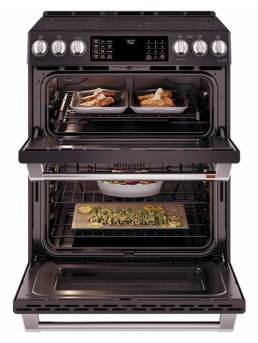 Connected Double Oven Electric Convection Range