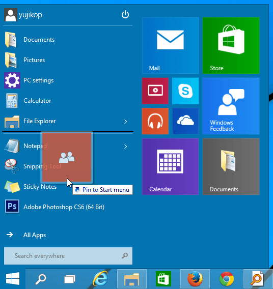 Pin_Item_ke_sebelah_kiri_Start_Menu_Windows_10