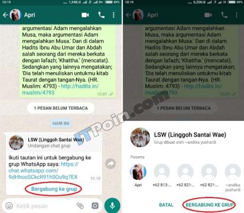 Cara Gabung Grup Whatsapp
