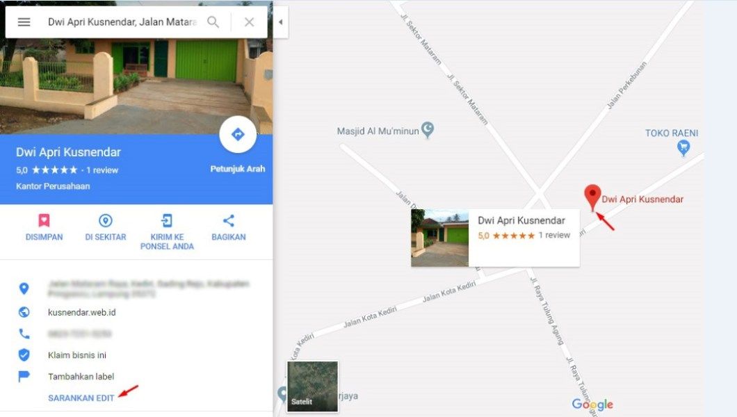 Cara Menghapus lokasi google maps