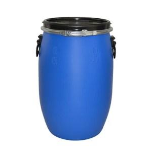60 litre blue plastic drum