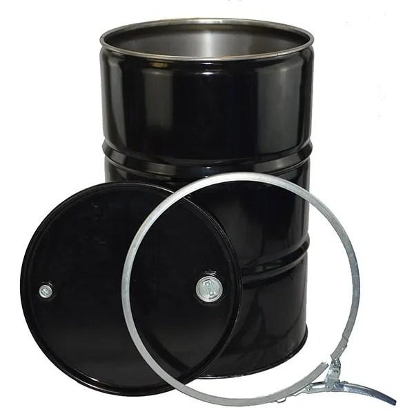 210 litre UN Tight Head steel Drum black