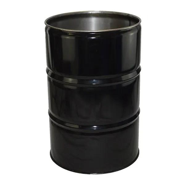 210 litre Tight Head steel Drum black no lid