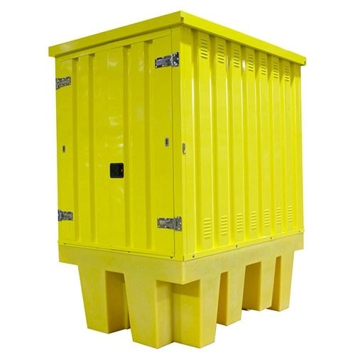 Poly IBC Spill Pallet with Steel Cover - BB1HCS