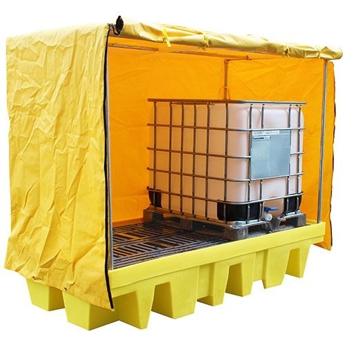 Covered-Twin-IBC-Spill-Pallet