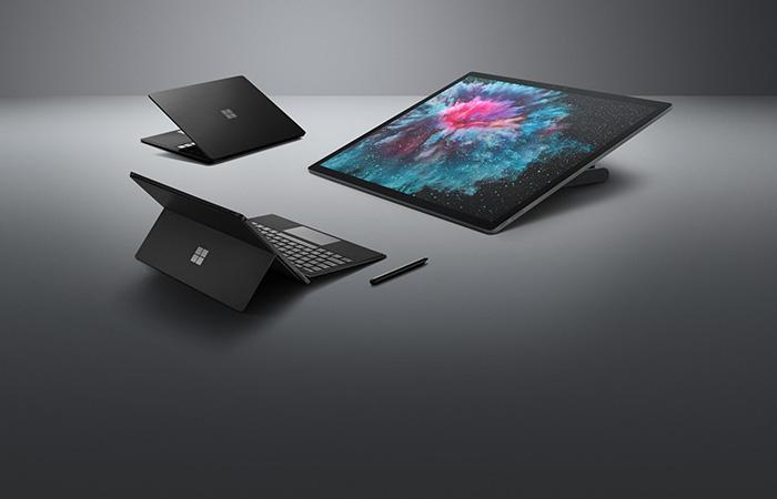 Surface Laptop 2, Surface Pro 6 og Surface Studio 2 tilgjengelig for forhåndsbestilling.