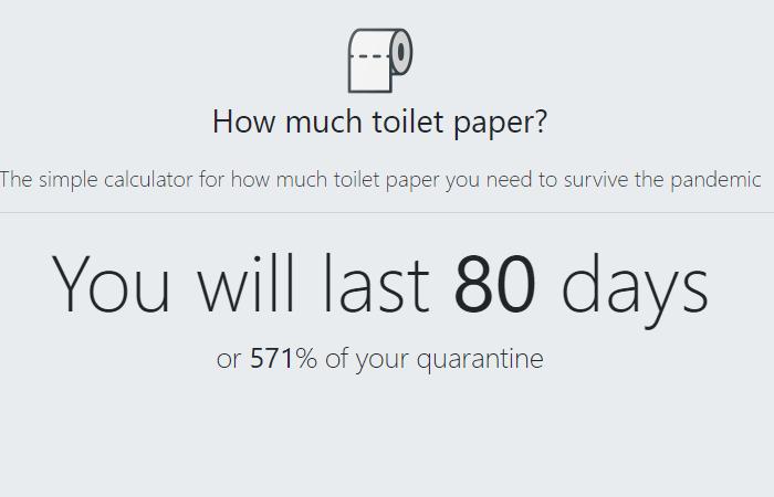 Nettside lar deg kalkulere hvor lenge du har … toalettpapir!