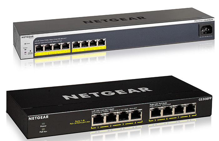 Netgear business PoE+ switcher