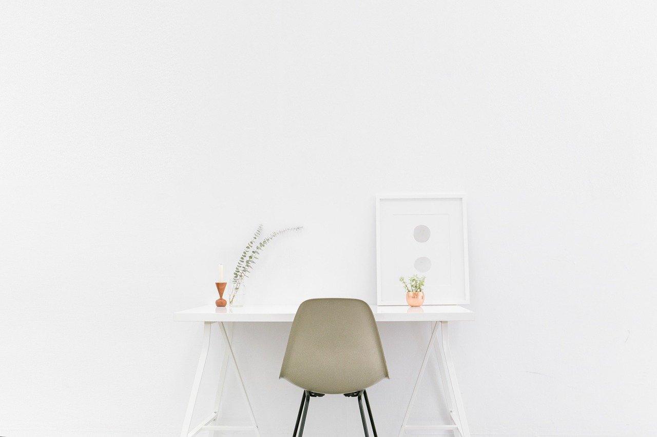 desk, table, simple