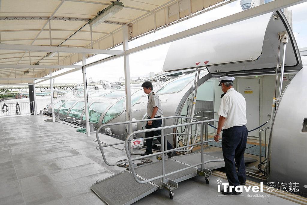 《東京遊船體驗》東京水上巴士 Tokyo Cruise Himiko:淺草40分鐘直達台場,悠閒自在又免去轉車麻煩。