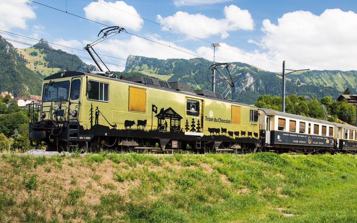 Ταξίδι με το τρένο της σοκολάτας στην Ελβετία
