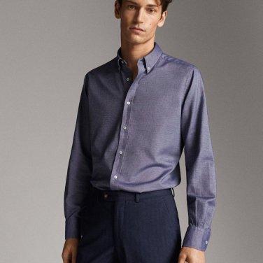 Βαμβακερό πουκάμισο Oxford, Massimo Dutti