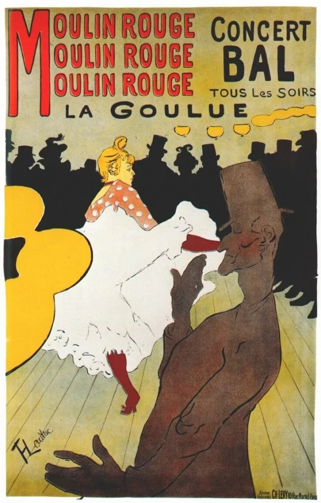 Moulin Rouge nightlife - Toulouse Lautrec poster