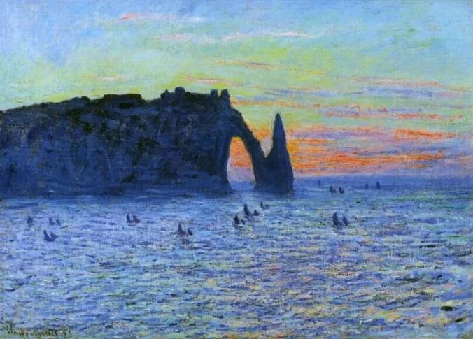 Etretat - Claude Monet Painting - impressionism art