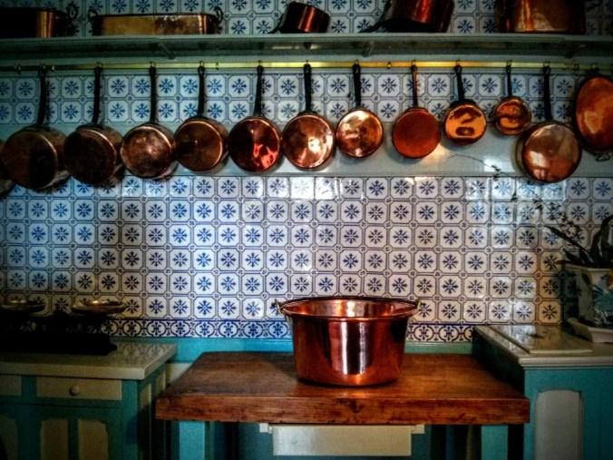 Photo of Monet's kitchen