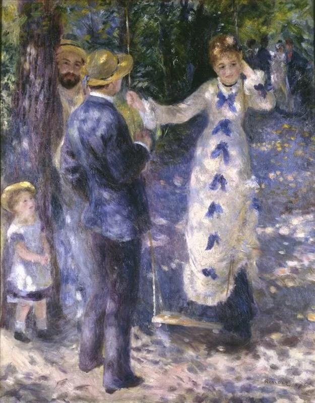 The Swing (La Balancoire) - Pierre-Auguste Renoir painting