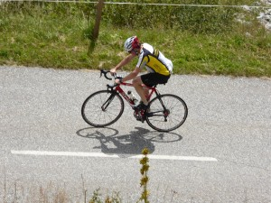 My shaddow on Col de Madeline