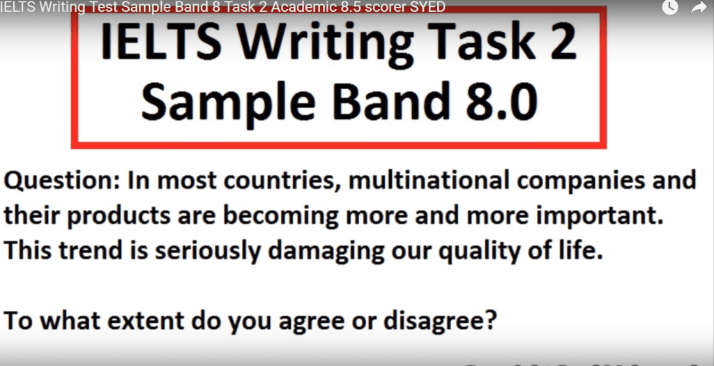 ielts writing band 8