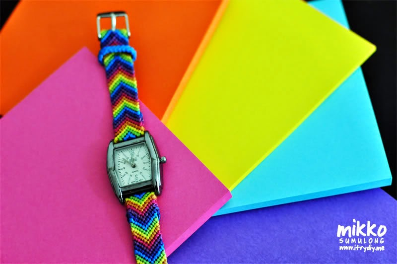I Try DIY   Friendship Bracelet Watch Strap