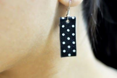 I Try DIY | CandyMagDotCom: DIY Washi Tape Earrings