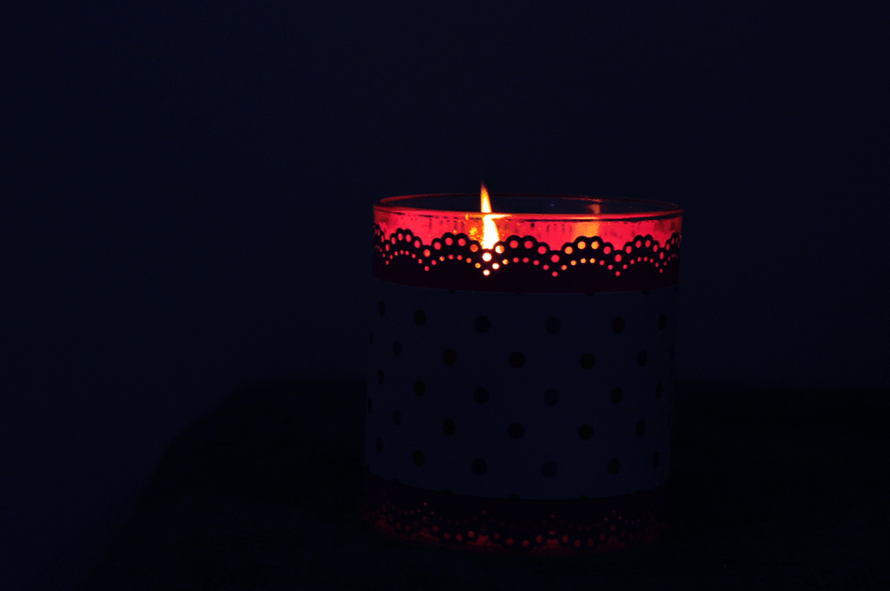 I Try DIY   Dressed Up Candle!