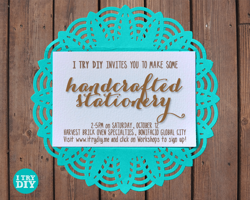 I Try DIY | Handcrafted Stationery Workshop this October!