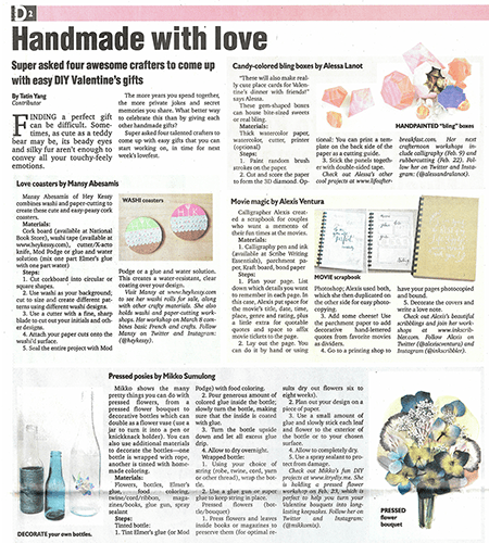 I Try DIY | Philippine Daily Inquirer: Handmade with love