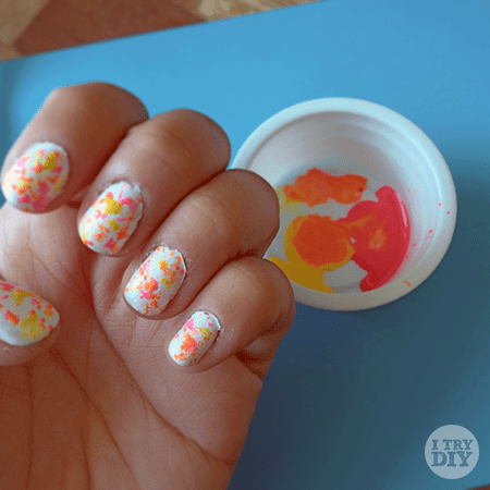 I Try DIY | Tricks for Tips: Neon Pollock Nails