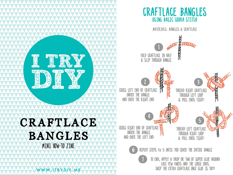 I Try DIY | How to Make Craftlace Bangles