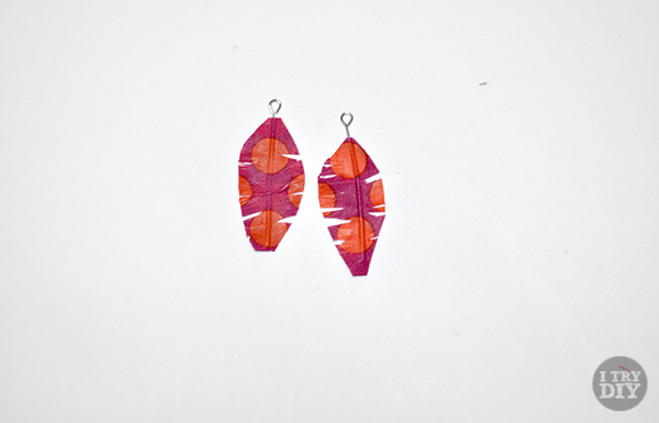 I Try DIY | Feather Washi and Paper Earrings