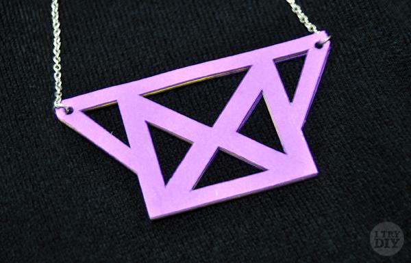 I Try DIY | Geometric Cutout Bib Necklace