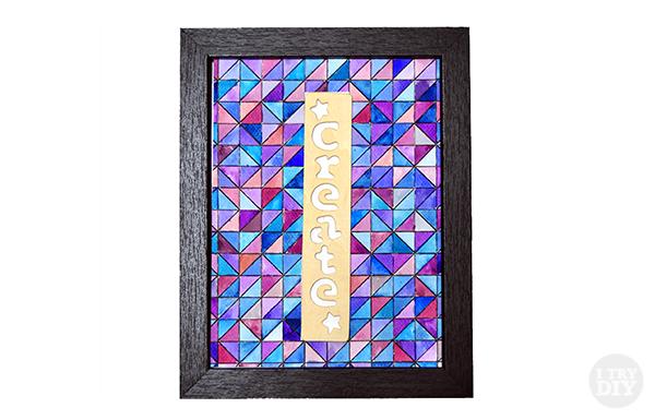 I Try DIY | Geometric Watercolor Wall Art