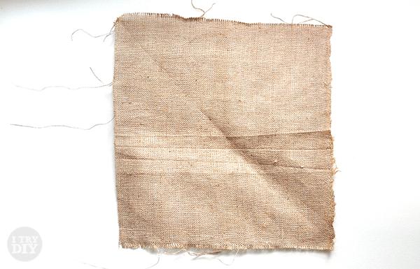 I Try DIY   Wall Art: Geometric Stitching on Burlap