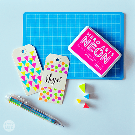 I Try DIY   It's A Wrap: Stamped-Up Gift Tags