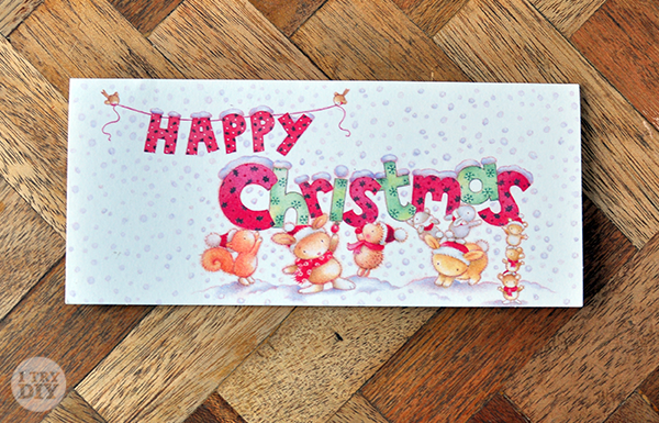 I Try DIY   It's a Wrap: Last Minute Holiday Card Gift Tags