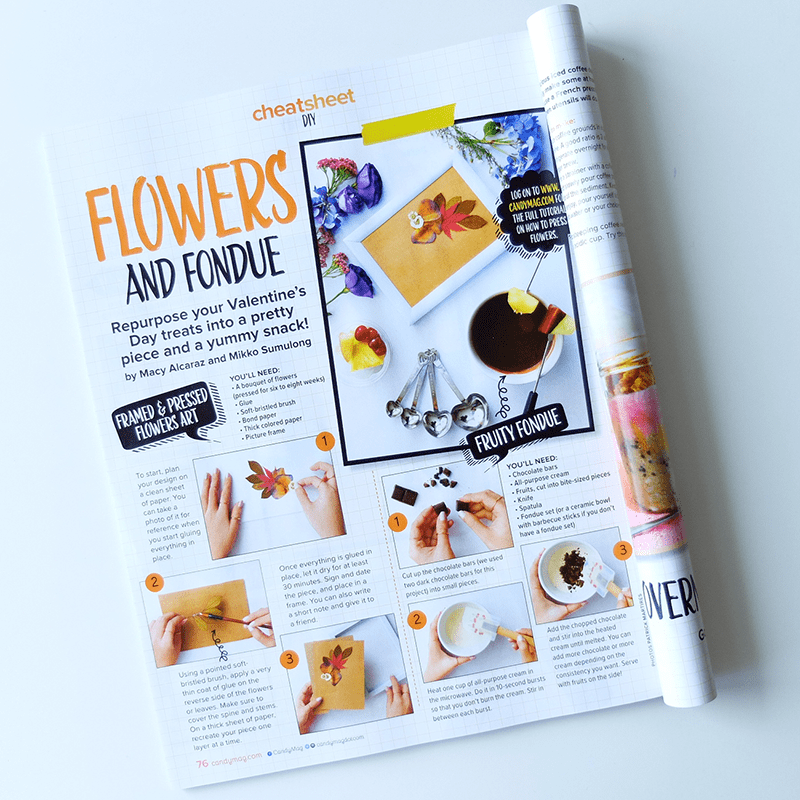 I Try DIY | Candy Magazine: Flowers and Fondue