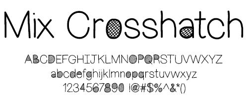 I Try DIY | Font Fix: Mix Crosshatch