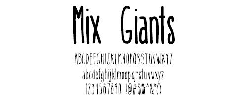 I Try DIY   Font Fix: Mix Giants