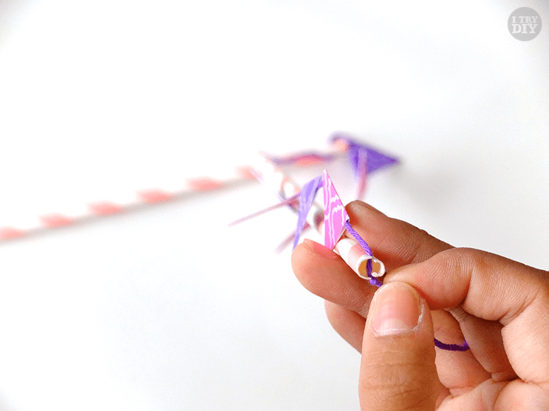 I Try DIY   Mini Bunting Cake Toppers