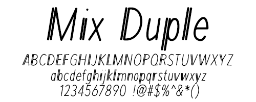 I Try DIY | Font Fix: Mix Duple