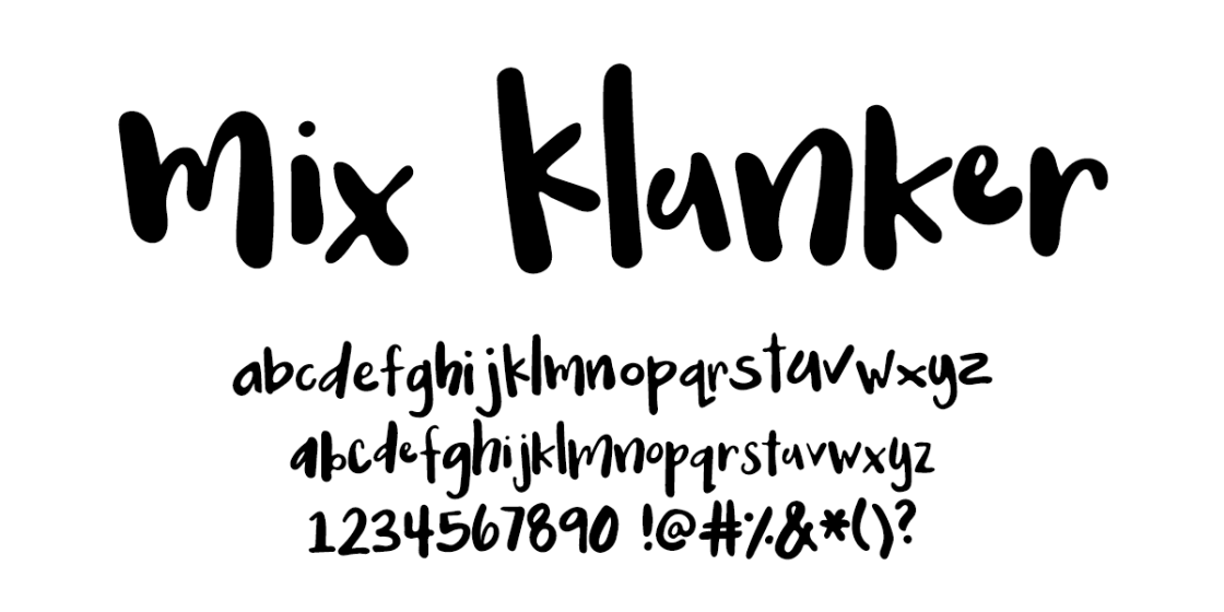 I Try DIY | Font Fix: Mix Klunker