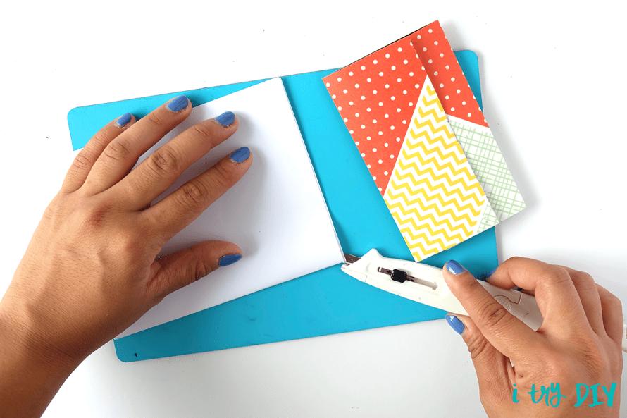 I Try DIY   #InstaxAndCrafts Pocket Notebook at the SM Stationery Art Fest